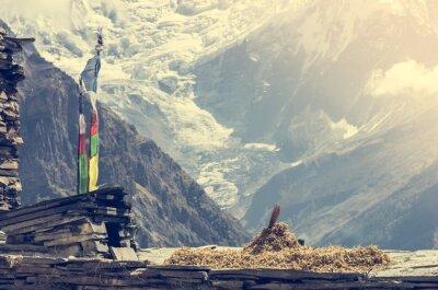 Plakát Mountain View, Annapurnas v Nepálu.