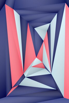 Plakát Multi-color geometric triangular low poly abstract background. Creative illustration in halftone style with gradient. Triangular pattern for your business design.