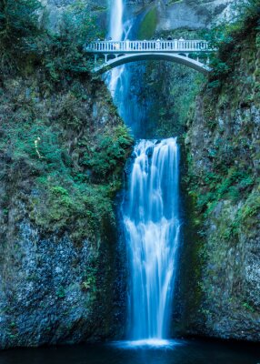 Plakát Multnomah Falls v Columbia Gorge