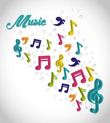 Plakát Music digitální design.