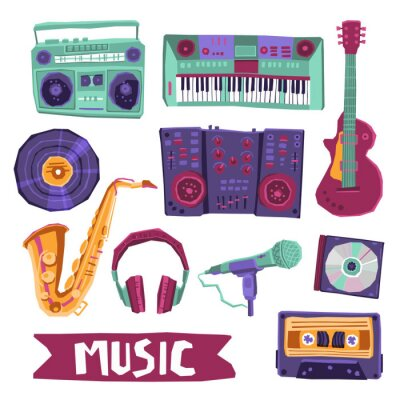 Plakát Music Icon Set