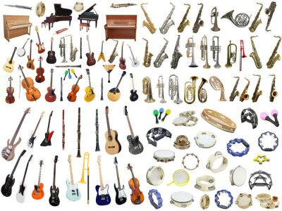 Plakát music instruments