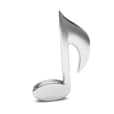 Plakát music note 3D, na bílém