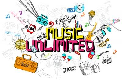 Plakát Music Unlimited