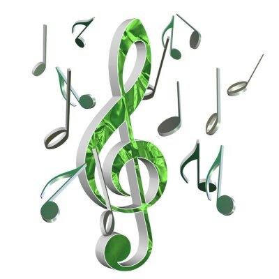 Plakát Musik, Violinschlüssel, Hudba