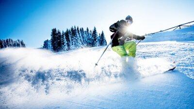 Plakát Muž lyžování sjezdové