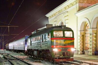 Plakát Nákladní a osobní motorový vlak