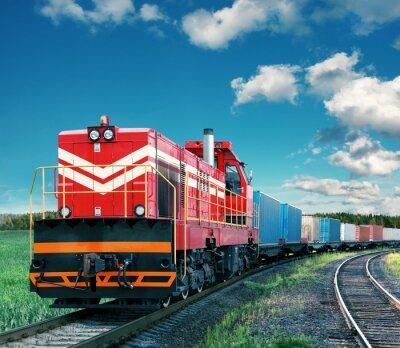 Plakát nákladní vlak