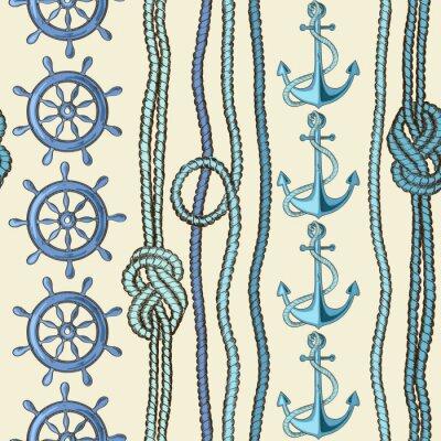 Plakát Námořní bezešvé vzor