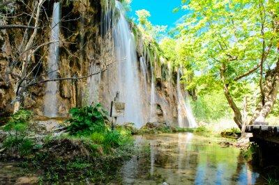Plakát Národní park Plitvická jezera v Chorvatsku