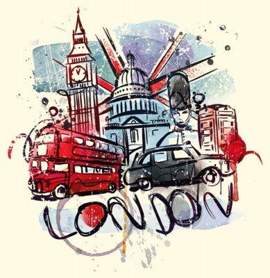 Plakát Navštívit Londýn
