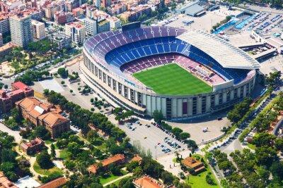 Plakát Největší stadion Barcelony z vrtulníku. Katalánsko