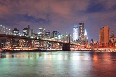 Plakát New York Brooklyn Bridge