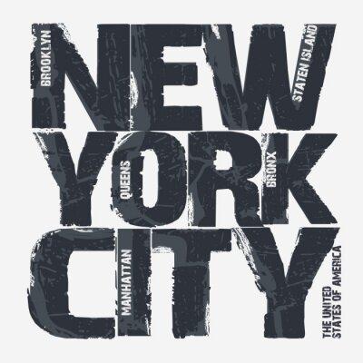 Plakát New York City Grafická úprava konstrukce