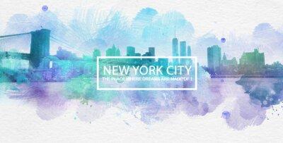 Plakát New York City je místo, kde se tvoří sny pohlednice