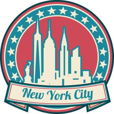 Plakát New York City skyline