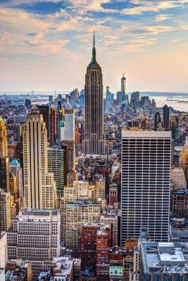 Plakát New York City za soumraku