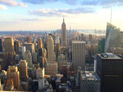 Plakát New York vista al tramonto da vrcholu skály