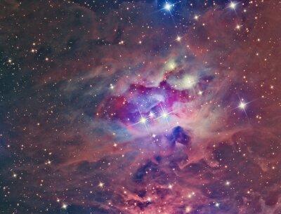 Plakát NGC 1973 Running Man mlhovina zobrazen s dalekohledem a vědecké CCD kamerou