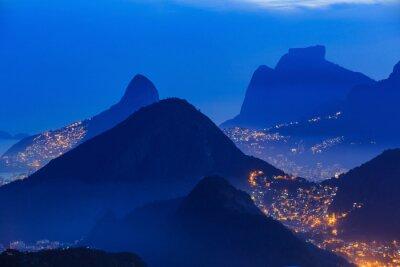 Plakát Noční pohled na Rio de Janeiro