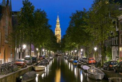 Plakát Noční pohled na Zuiderkerk v Amsterdam