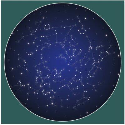 Plakát Northern hemisphere constellations