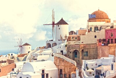 Plakát OAI Santorini View
