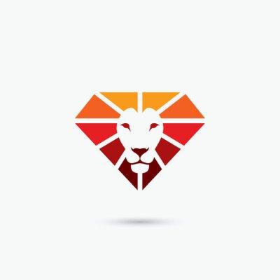 Plakát Oheň symbol diamant lev