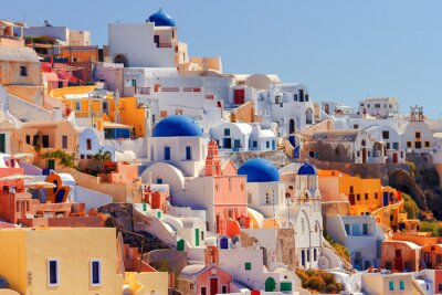 Plakát Oia panoráma města, Santorini
