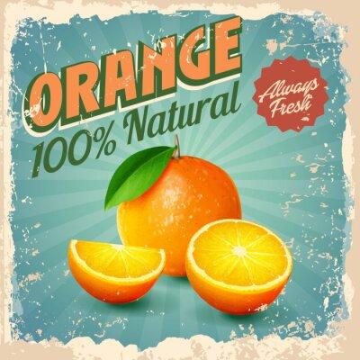Plakát oranžová vinobraní