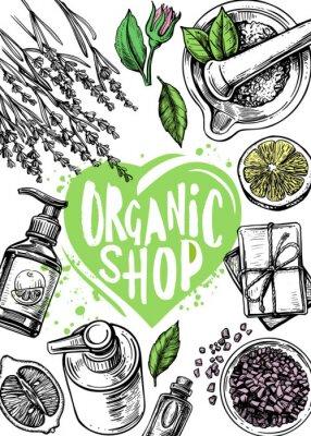 Plakát organic store cosmetics