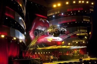 Plakát OSLO - 8.srpna: Rolling Stones pořádá koncert na Valle Hovin v Oslu 8.08.2007 v Oslo, Norsko
