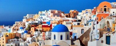 Plakát Ostrov Santorini
