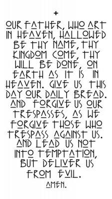 Plakát Our Father prayer vector illustration