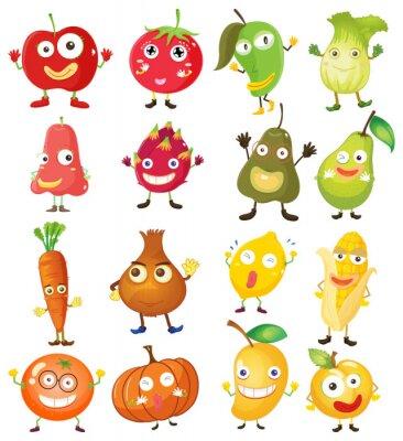 Plakát Ovoce a zelenina s tváří