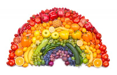 Plakát ovoce a zeleniny duha