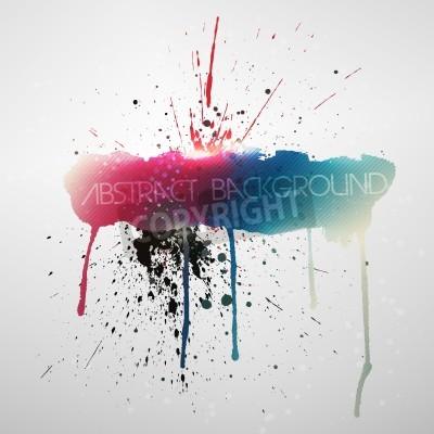 Plakát Paint splat grungy background