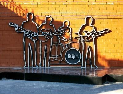 Plakát Památník The Beatles v Jekatěrinburgu, Rusku