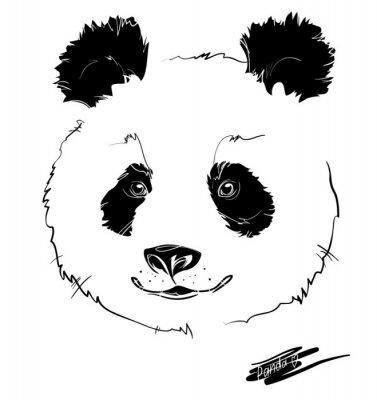 Plakát panda head