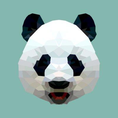 Plakát panda hlava polygon ojedinělých vektoru