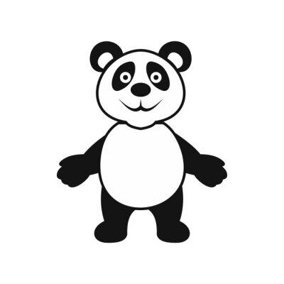 Plakát Panda ikona medvěd, jednoduchý styl