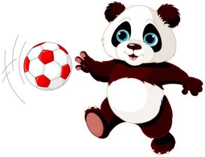 Plakát Panda zasáhne míč