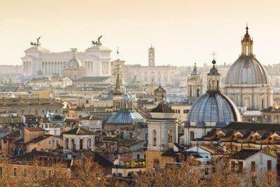 Plakát Panorama starého města v Římě, Itálie