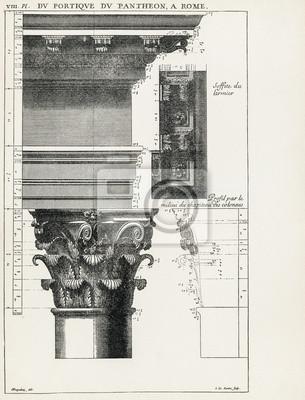 Plakát Pantheon v Římě VIII