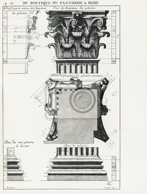 Plakát Pantheon v Římě X