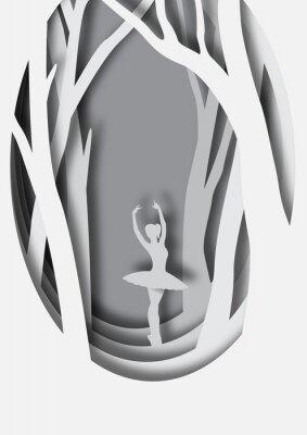 Plakát Papírové řezbářství balerína