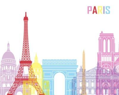Plakát Paris skyline pop
