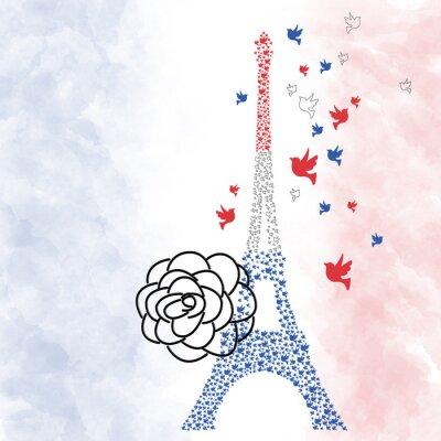 Plakát Paříž Eiffelova věž