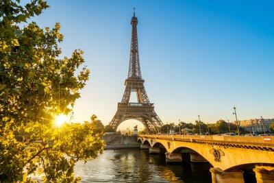 Plakát Paříž Eiffelova věž Eiffelova věž Tour Eiffel