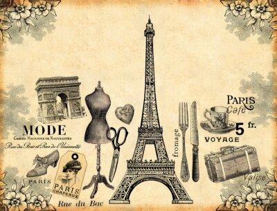 Plakát Paříž pozadí